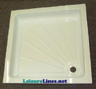 585 SQ  SMALL TRAY WHITE HIPS